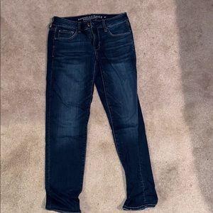 American Eagle dark blue skinny jeans (short)